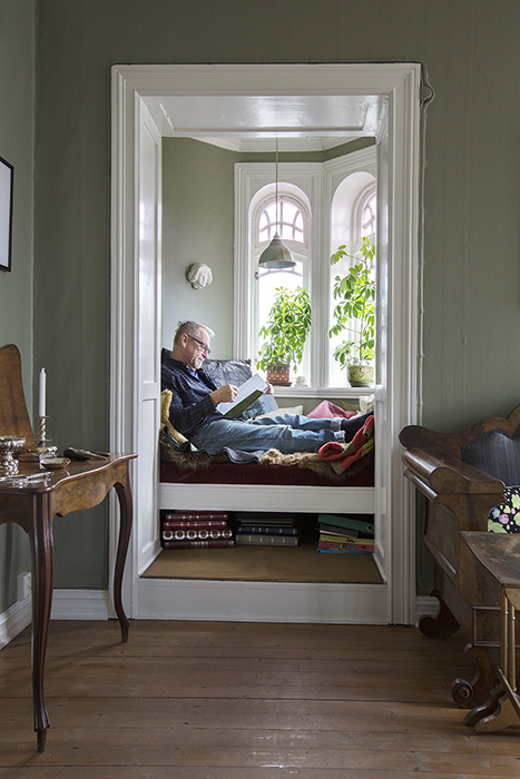 Bilde av stua til Erik Jondell