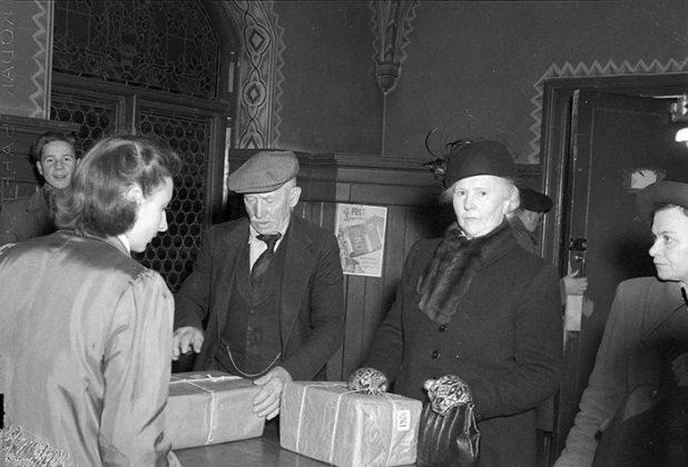 Innvendig bilde fra det gamle postkontoret