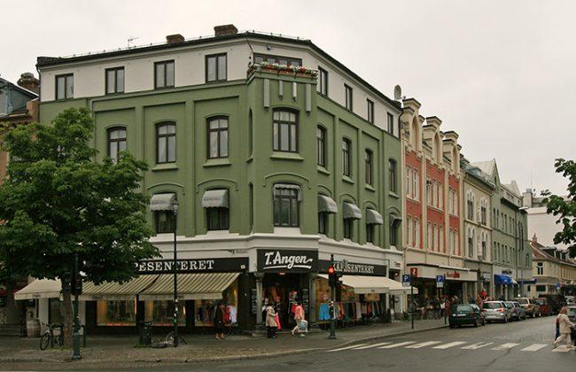 Nytt bilde av krysset Dronningens gate og Munkegata
